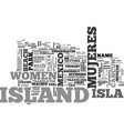 isla mujeres mexico the island of women text vector image vector image