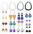 jewellery woman luxury mockup set realistic style vector image vector image