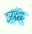 lactose free banner or label intolerance and food vector image