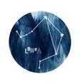 libra zodiac constellation vector image vector image