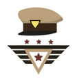 military hat design vector image