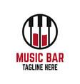 modern music bar logo vector image