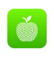 nano apple icon green vector image vector image