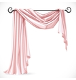 Pink asymmetric curtains on the ledge forged vector image vector image