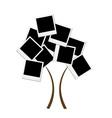 Polaroid tree vector image vector image