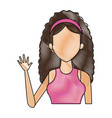 portrait young woman avatar female vector image vector image