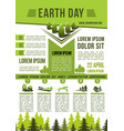 save earth nature information poster vector image