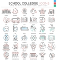 School and colledge ultra modern outline vector image vector image
