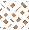 seamless cardboard boxes set pattern vector image vector image