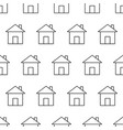 seamless pattern from house icon black contour on vector image vector image