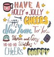 set christmas and new year lettering vector image vector image