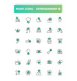 set of 30 line icons leisure and entertainment vector image vector image