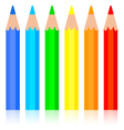 Set of colored pencil vector image