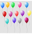 set of colorful realistic helium balloons on vector image