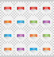 set of colorful sale tag labels discount up to 5 vector image