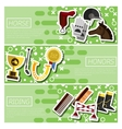 Set of Horizontal Banners about horse riding vector image vector image