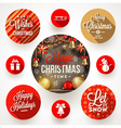 Set of round frames with Christmas greetings and vector image vector image