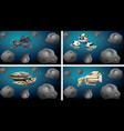 set space ships vector image vector image