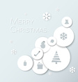Simple modern minimalistic christmas card vector image vector image
