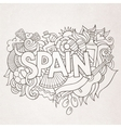 Spain country hand lettering and doodles elements vector image vector image