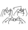 stick figure spider vector image