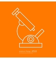 Stock Linear icon microscope vector image vector image