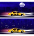Taxi banner vector image vector image