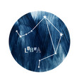 the libra zodiac constellation vector image