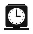 Vintage alarm clock simple icon vector image