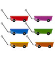 wagon in six colors vector image vector image
