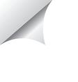 White page corner vector image