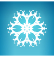 White Snowflake Merry Christmas vector image