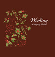 wishing happy time banner card vector image vector image