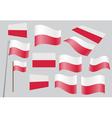 Polish flag vector image