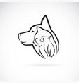 a dog cat and bird on white background logo pet vector image