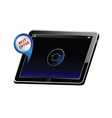 tablet with best offer color vector image