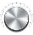 Volume button -music knob vector image