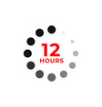 12h color icon and time concept vector image