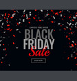 abstract black friday sale confetti background vector image vector image