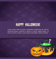 abstract festive halloween template vector image