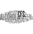 alcohol how badly can it affect cfs sufferers vector image vector image