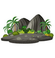 an isolated island on white background vector image