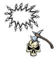 axe in skull-100 vector image vector image