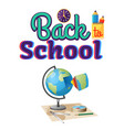 back to school geography sticker isolated on white vector image vector image