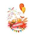 Banner for Oktoberfest celebration Beer and vector image