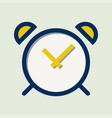 basic alarm clock color icon vector image vector image