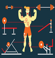 Body Building Man vector image vector image