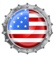 bottle cap flag vector image