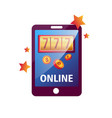 casino online app for modern tablets and vector image vector image
