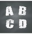 Chalkboard Alphabet vector image vector image